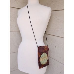 Vintage Floral Chinese Crossbody Purse